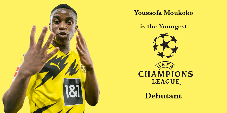 Youssoufa Moukoko is the Youngest Champions League Debutant