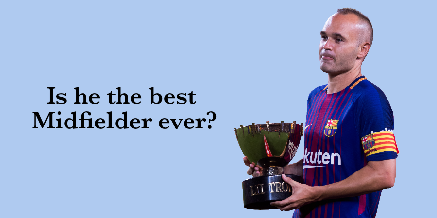 Iniesta is one of Barcelona's best soccer players of all time