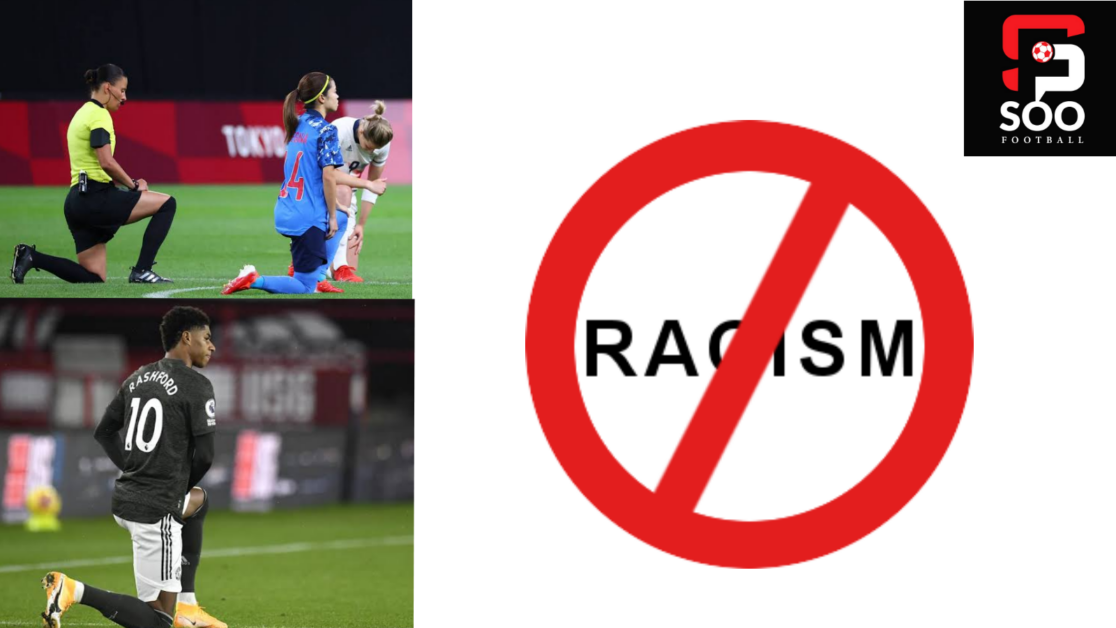 Take the knee in football means no to racism